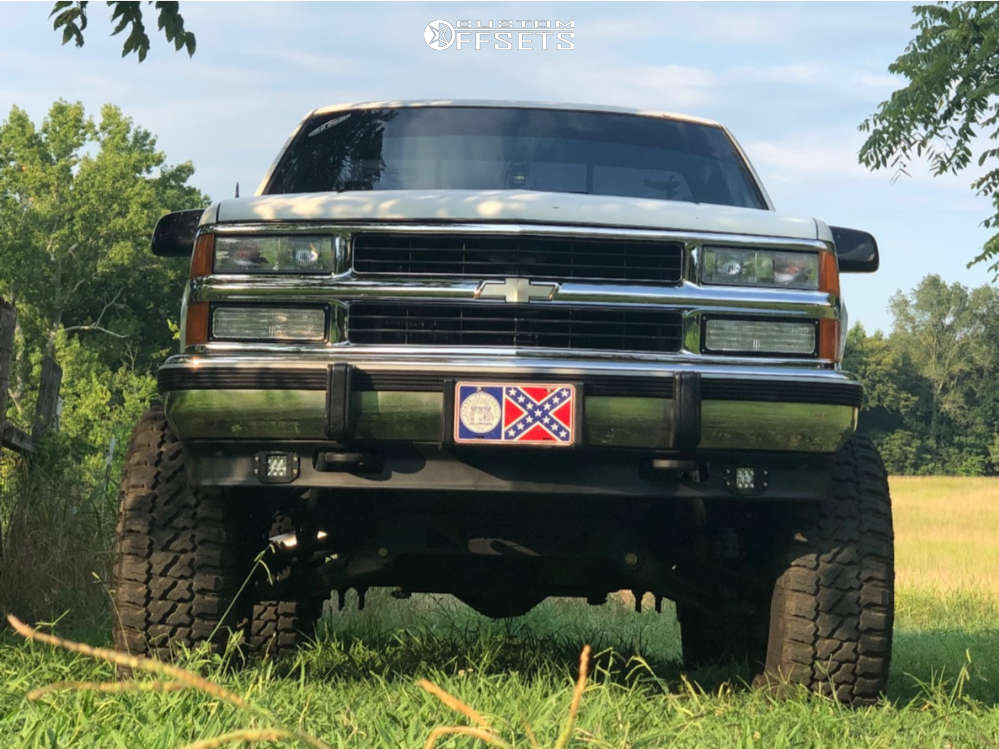"""1990 Chevrolet K1500 Super Aggressive 3""""-5"""" on 22x12 -51 offset Vision Rocker & 35""""x12.5"""" Fury Offroad Country Hunter Mt on Suspension Lift 4"""" - Custom Offsets Gallery"""