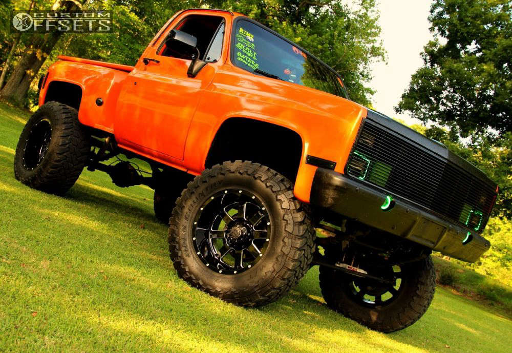 """1978 Chevrolet K10 Super Aggressive 3""""-5"""" on 20x12 -44 offset Gear Off-Road Big Block and 38""""x15.5"""" Toyo Tires Open Country M/T on Suspension Lift 9"""" - Custom Offsets Gallery"""