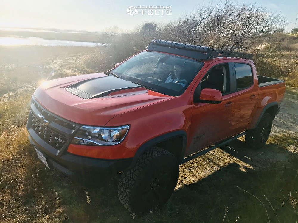 2019 Chevrolet Colorado HellaFlush on 17x8.5 0 offset RRW Rr5-v & 315/70 BFGoodrich Mud-terrain T/a Km3 on Stock Suspension - Custom Offsets Gallery