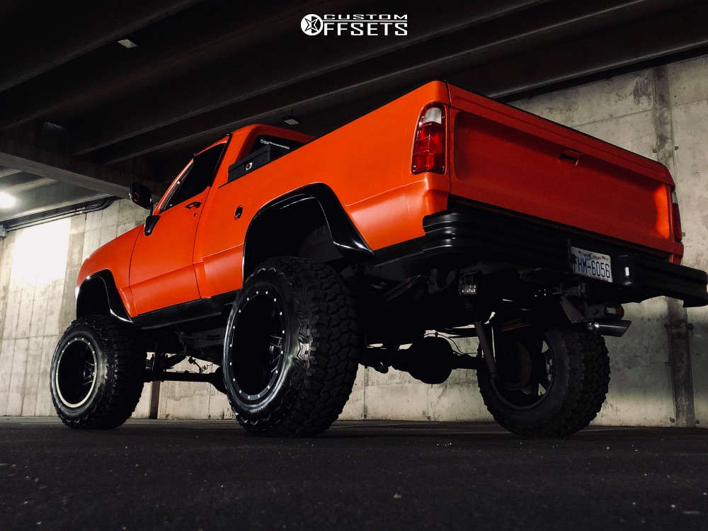 """1978 Dodge W200 Hella Stance >5"""" on 20x14 -76 offset Fuel Maverick D538 and 37""""x12.5"""" Deestone Mud Clawer on Suspension Lift 9"""" - Custom Offsets Gallery"""