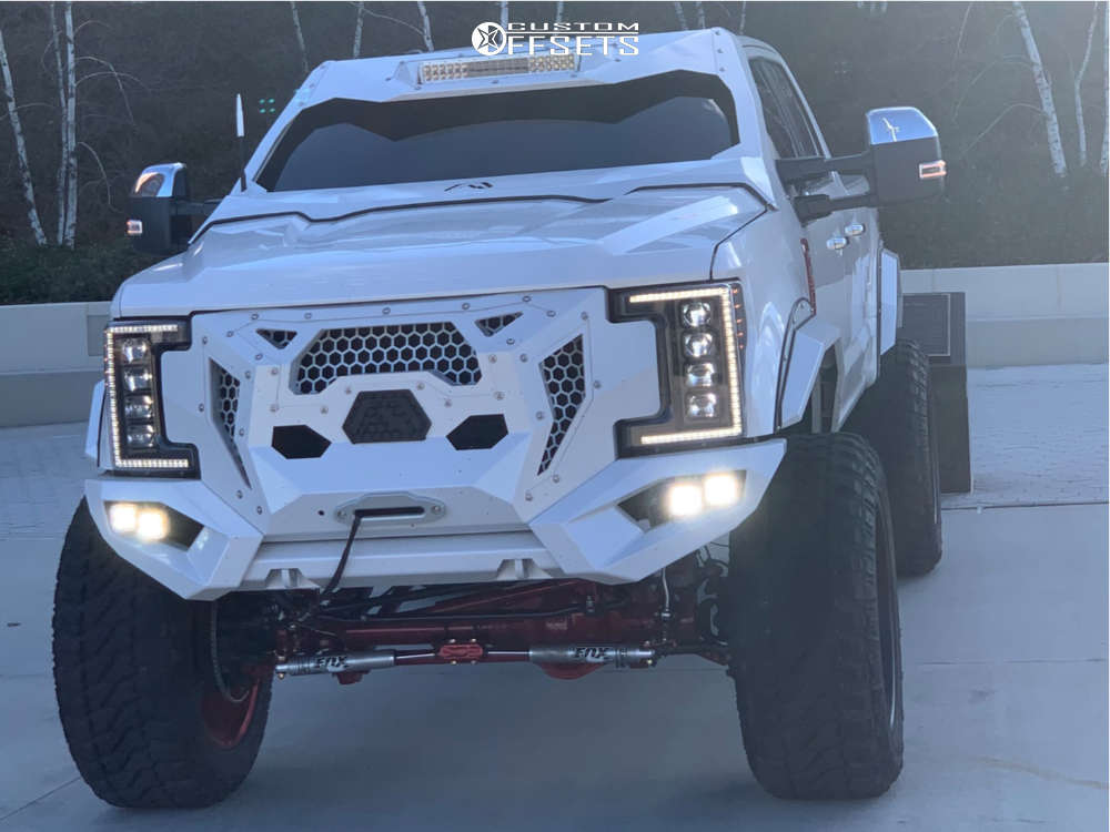 """2017 Ford E-350 Super Duty Super Aggressive 3""""-5"""" on 26x14 -91 offset American Force Morph Cc and 42""""x15.5"""" Fury Offroad Country Hunter Mt on Suspension Lift 8"""" - Custom Offsets Gallery"""