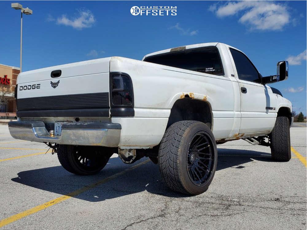 "1994 Dodge Ram 1500 Aggressive > 1"" outside fender on 22x12 -44 offset Motiv Offroad Mutant & 305/45 Fullway Hs288 on Suspension Lift 4.5"" - Custom Offsets Gallery"
