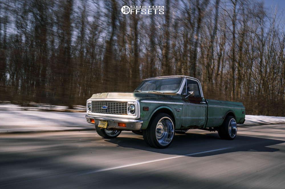 1972 Chevrolet C10 Slightly Aggressive on 22x12 -51 offset ARKON OFF-ROAD Crown Series Triumph & 315/30 Atturo Az850 on Stock Suspension - Custom Offsets Gallery