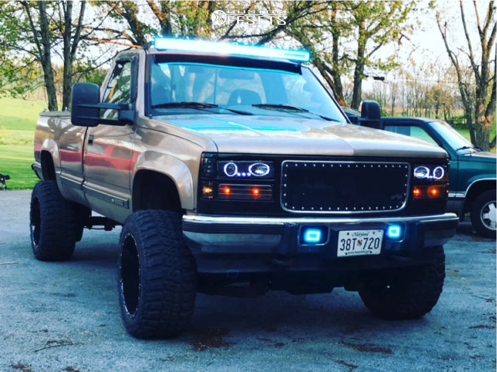 """1995 Chevrolet K3500 Super Aggressive 3""""-5"""" on 20x12 -44 offset Worx Sentry and 33""""x12.5"""" Federal Couragia Mt on Suspension Lift 6"""" - Custom Offsets Gallery"""