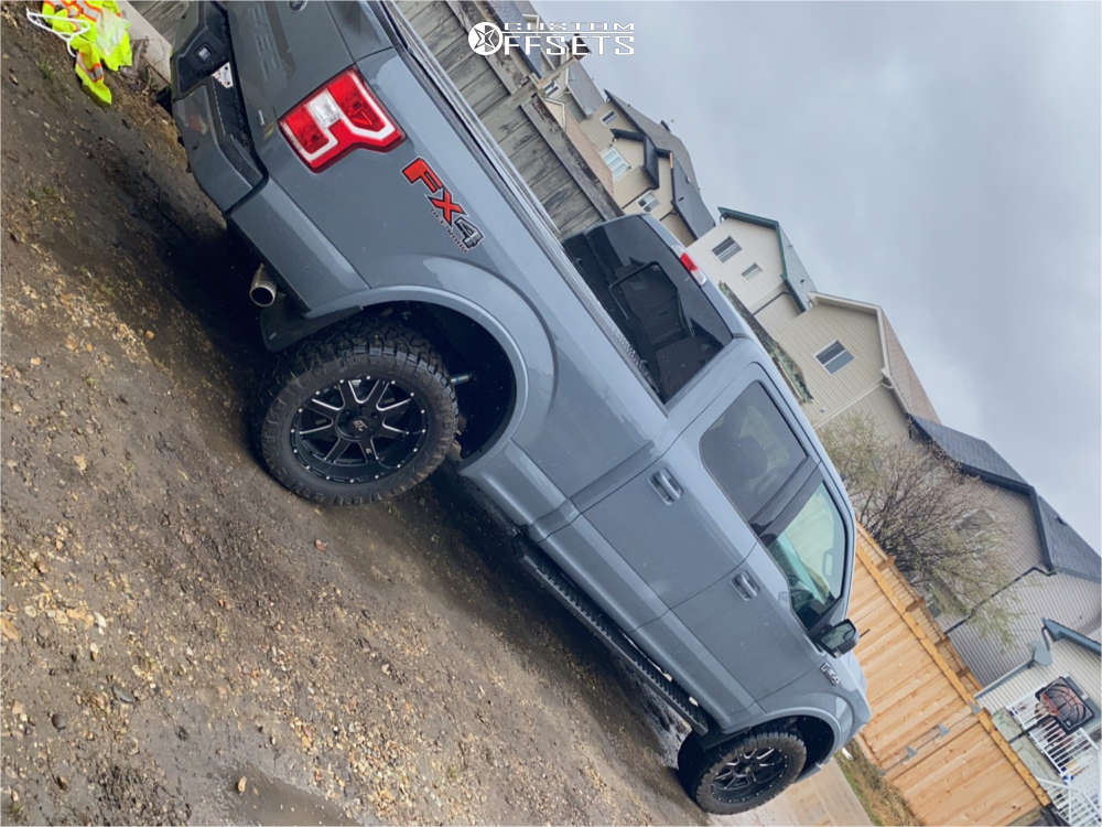 """2020 Ford F-150 Slightly Aggressive on 20x9 12 offset GT Invasion & 33""""x12.5"""" Nitto Ridge Grappler on Leveling Kit - Custom Offsets Gallery"""