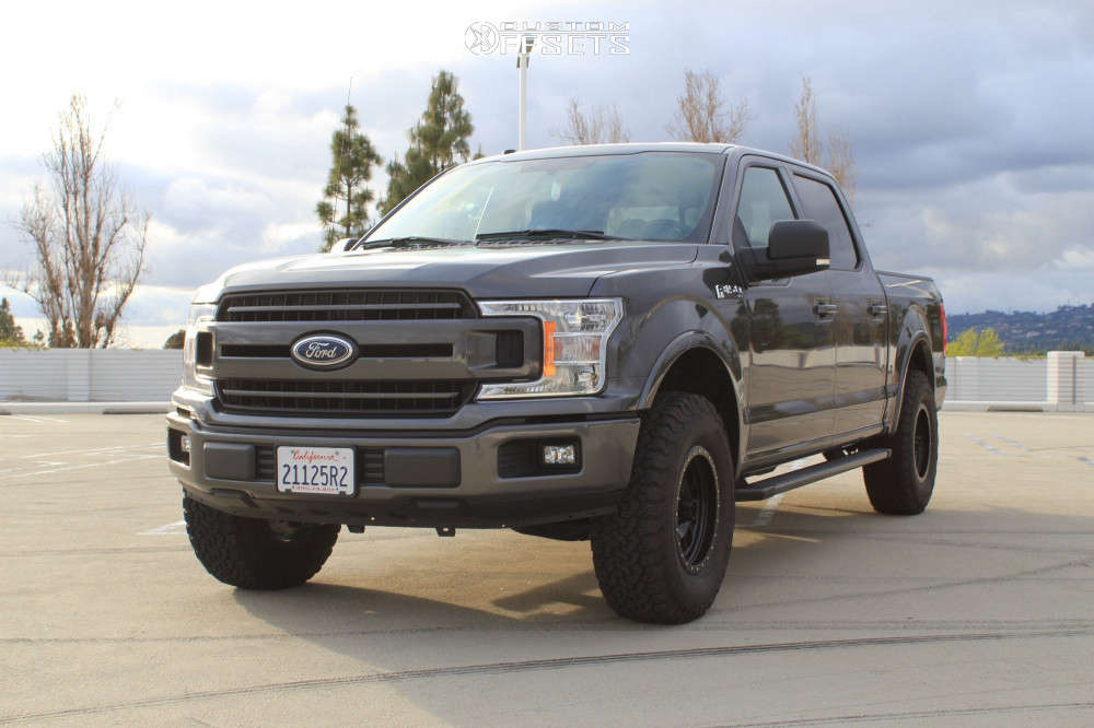 2018 Ford F-150 Slightly Aggressive on 17x8.5 0 offset Method Double Standard and 285/75 BFGoodrich All Terrain Ta Ko2 on Leveling Kit - Custom Offsets Gallery