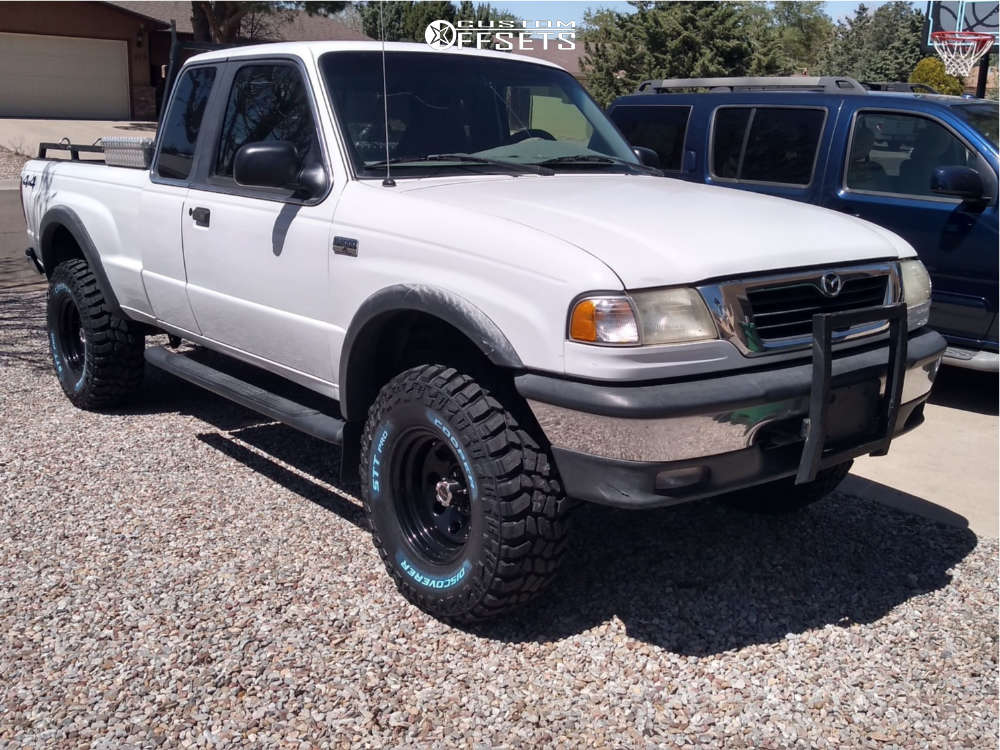 """2000 Mazda B4000 Aggressive > 1"""" outside fender on 15x8 -19 offset Vision Soft 8 and 32""""x11.5"""" Cooper Discoverer Stt Pro on Suspension Lift 2.5"""" - Custom Offsets Gallery"""