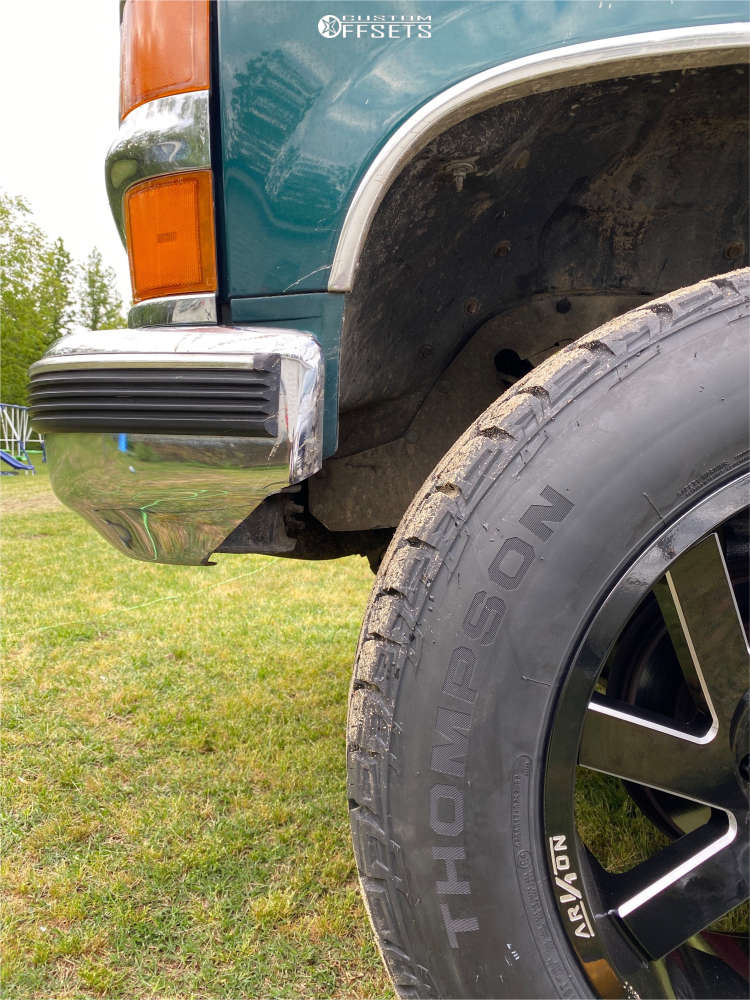 """1997 Chevrolet C1500 Aggressive > 1"""" outside fender on 20x10 -25 offset ARKON OFF-ROAD Lincoln & 275/60 Mickey Thompson Deegan 38 At on Suspension Lift 4"""" - Custom Offsets Gallery"""