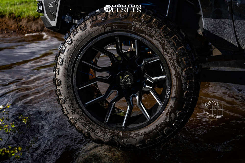 """2012 Ford F-350 Super Duty Super Aggressive 3""""-5"""" on 24x14 -81 offset ARKON OFF-ROAD Roosevelt and 40""""x15.5"""" Patriot Torque Mt on Suspension Lift 8"""" - Custom Offsets Gallery"""