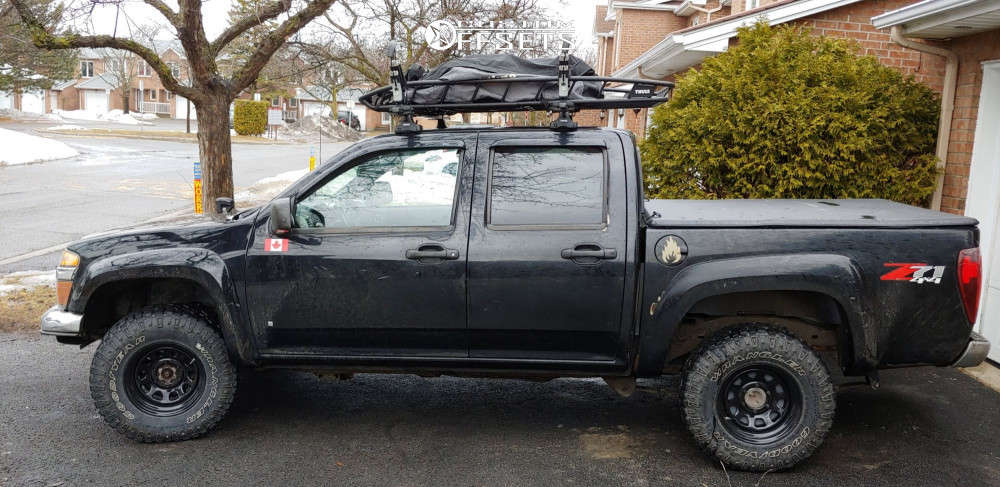 """2008 Chevrolet Colorado Aggressive > 1"""" outside fender on 15x8 -6 offset Pro Comp 52 & 31""""x10.5"""" Goodyear Wrangler Duratrac on Leveling Kit - Custom Offsets Gallery"""