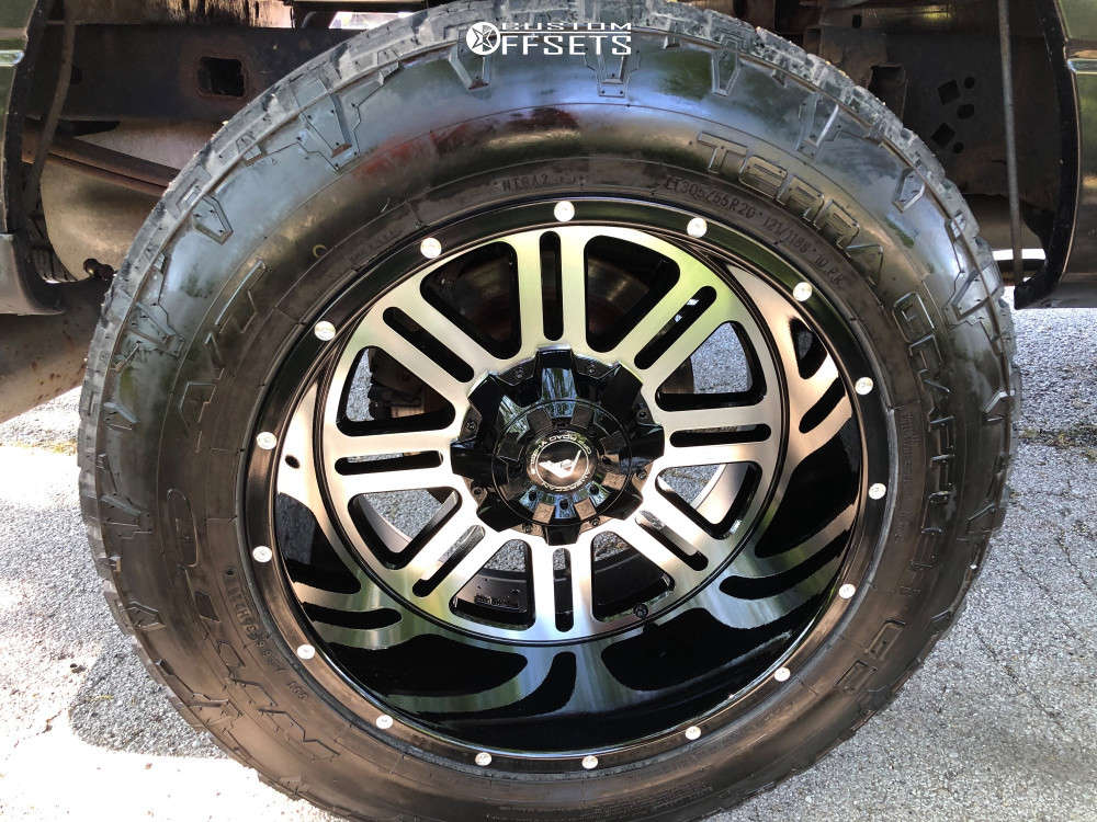 """2011 Ford F-150 Super Aggressive 3""""-5"""" on 20x12 -44 offset American Offroad Renegade and 305/55 Nitto Terra Grappler G2 on Leveling Kit - Custom Offsets Gallery"""