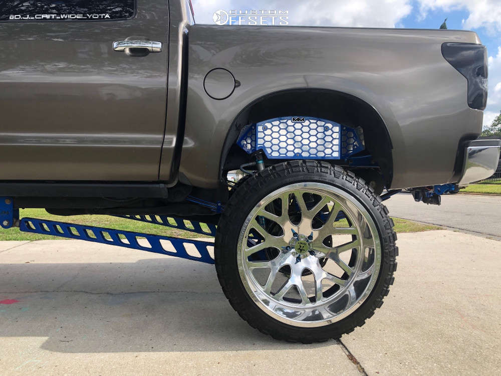 """2008 Toyota Tundra Hella Stance >5"""" on 28x16 -101 offset Rbp Forged Atomic and 40""""x15.5"""" Fury Offroad Country Hunter Mt on Lifted >12"""" - Custom Offsets Gallery"""