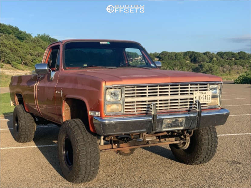 """1984 Chevrolet K20 Aggressive > 1"""" outside fender on 15x10 -38 offset Cragar 342 & 35""""x12.5"""" Federal Couragia Mt on Suspension Lift 4"""" - Custom Offsets Gallery"""
