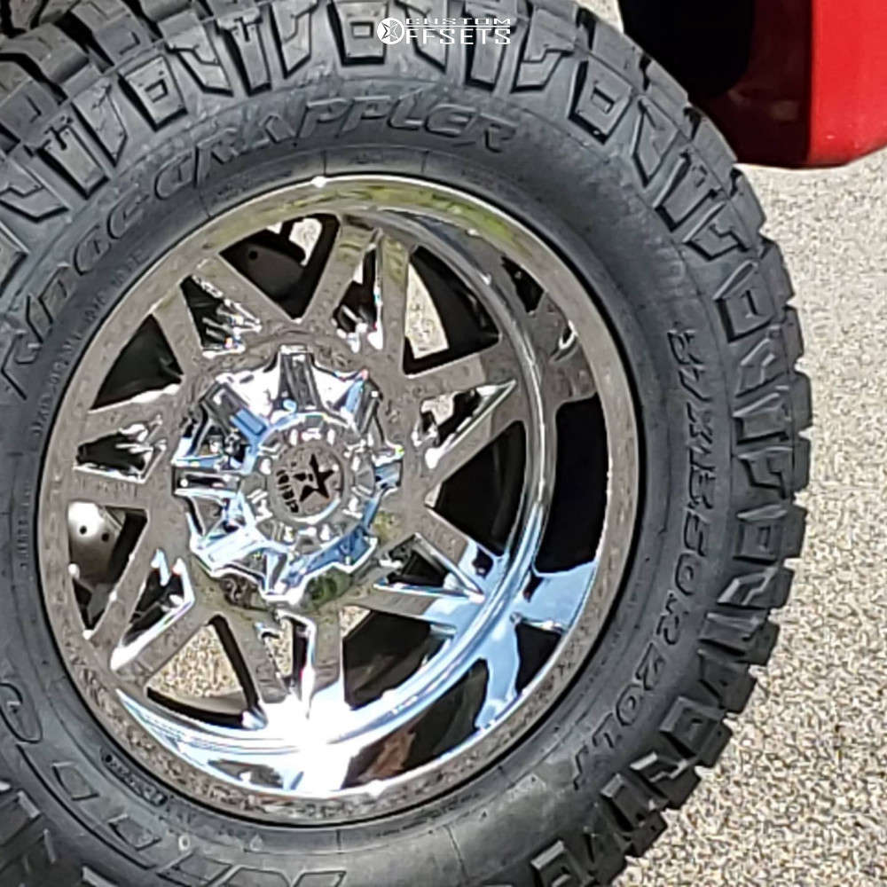 """2012 Ford F-250 Super Duty Aggressive > 1"""" outside fender on 20x12 -44 offset RBP 71r and 37""""x13.5"""" Nitto Ridge Grappler on Suspension Lift 6"""" - Custom Offsets Gallery"""