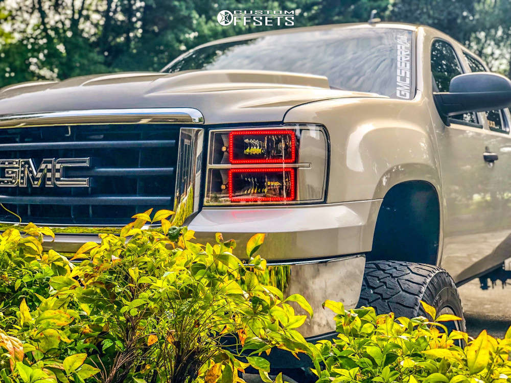 """2009 GMC Sierra 1500 HD Super Aggressive 3""""-5"""" on 20x12 -44 offset Fuel Full Blown & 35""""x12.5"""" Nitto Exo Grappler on Suspension Lift 7"""" - Custom Offsets Gallery"""