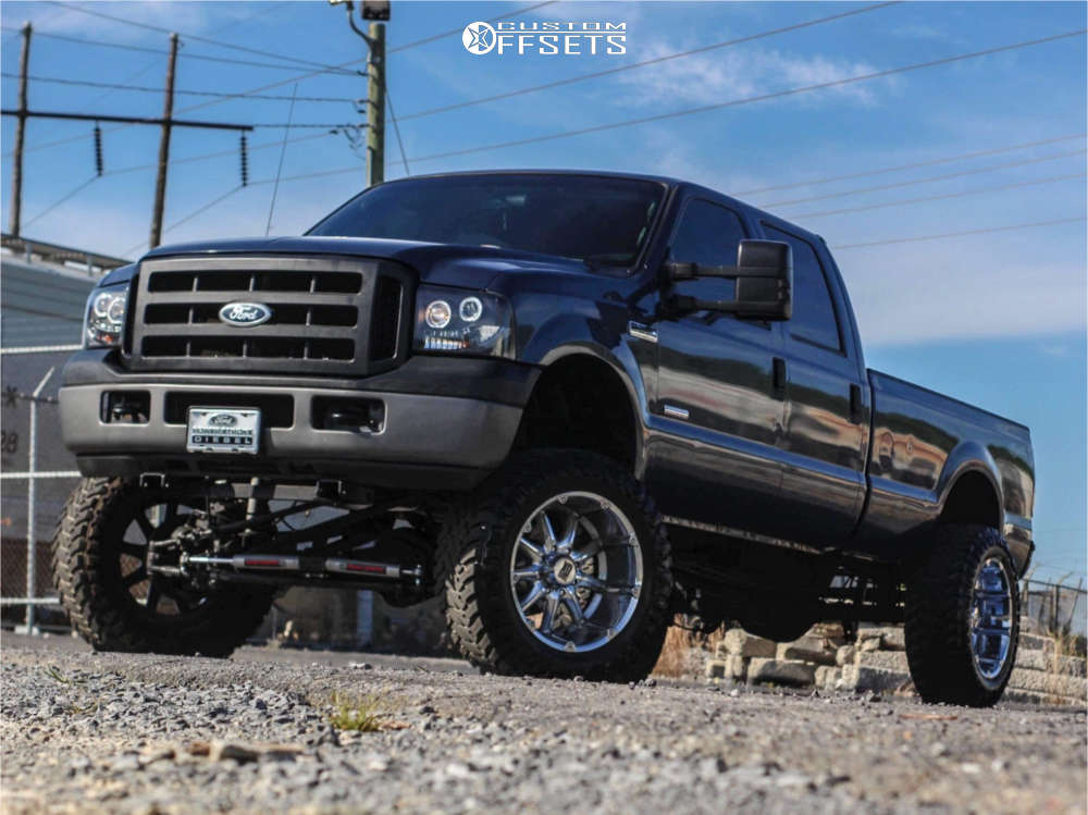 """2007 Ford F-250 Super Duty Super Aggressive 3""""-5"""" on 22x12 -44 offset XD Badlands and 37""""x13.5"""" Atturo Trail Blade Mt on Suspension Lift 6"""" - Custom Offsets Gallery"""