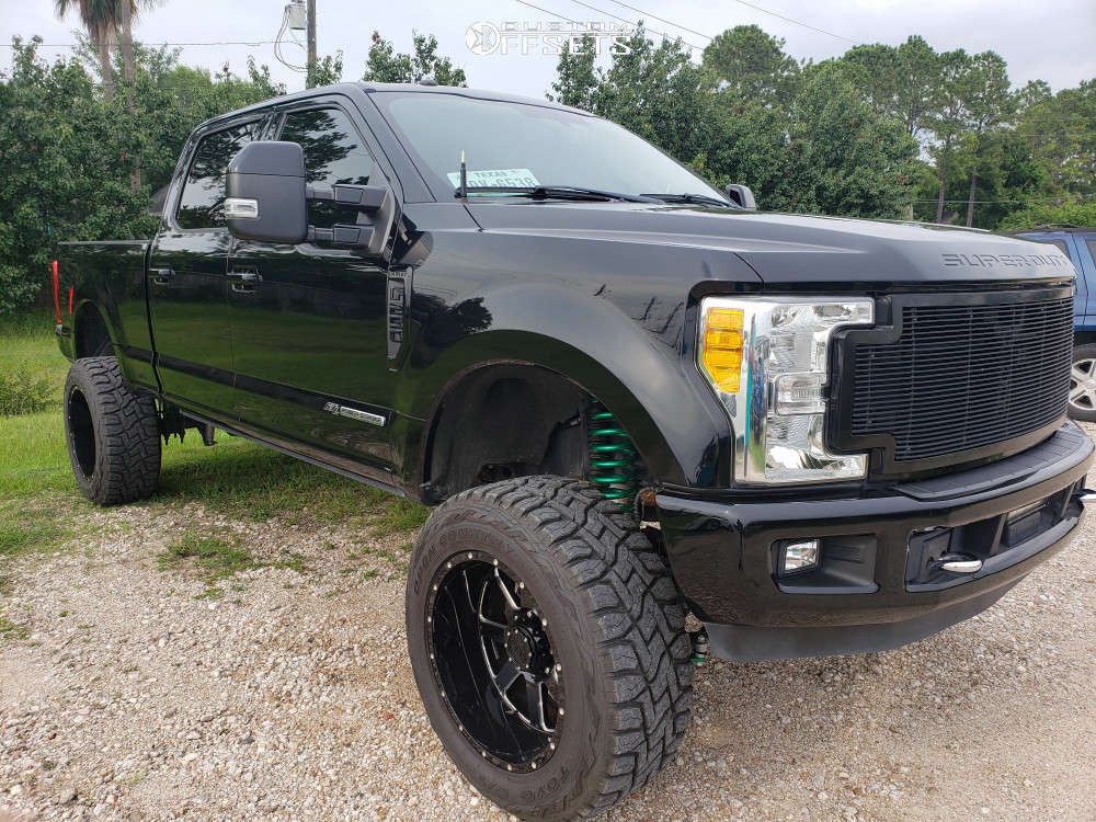 """2017 Ford F-250 Super Duty Super Aggressive 3""""-5"""" on 22x12 -44 offset Gear Off-Road 726mb and 37""""x13.5"""" Toyo Tires Open Country R/T on Suspension Lift 6"""" - Custom Offsets Gallery"""