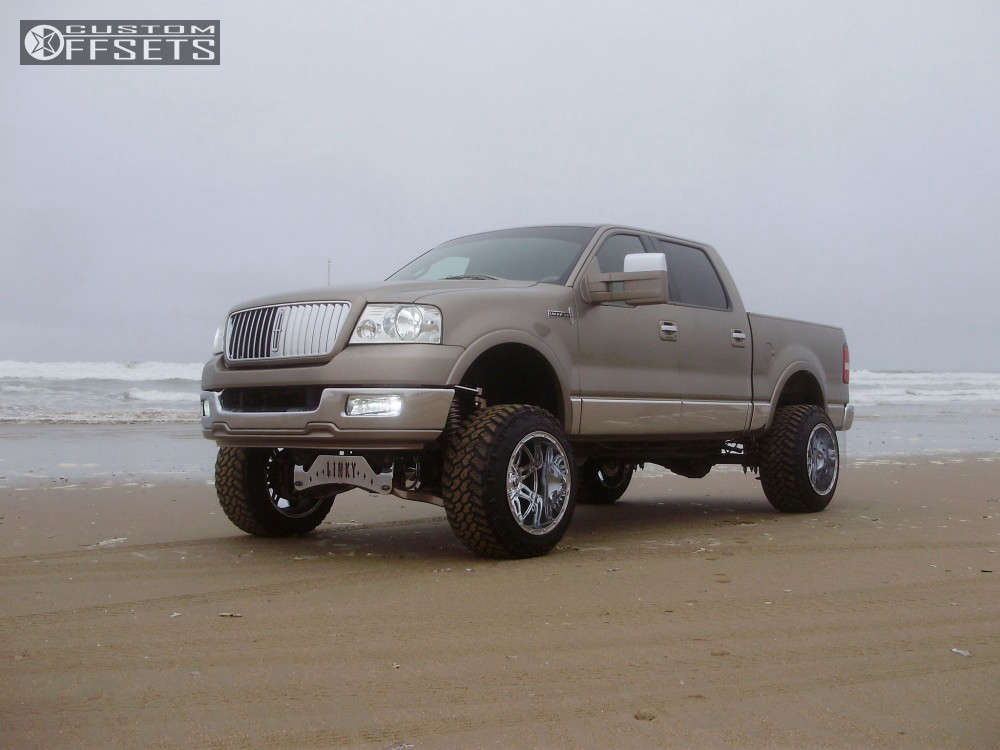 """2006 Lincoln Mark LT Hella Stance >5"""" on 20x14 -76 offset Fuel Hostage and 305/55 Nitto Trail Grappler on Suspension Lift 6"""" - Custom Offsets Gallery"""