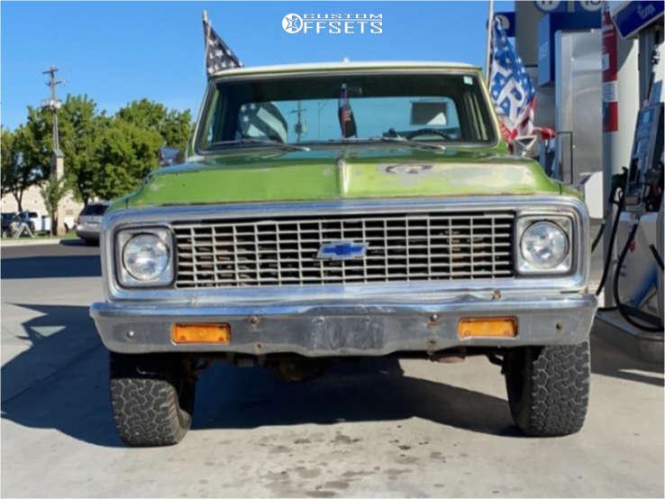 1972 Chevrolet K20 Pickup Slightly Aggressive on 16x7 -8 offset Alloy Ion style 71 & 305/70 BFGoodrich All Terrain Ta Ko2 on Stock Suspension - Custom Offsets Gallery