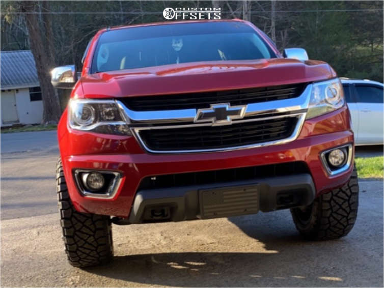 """2015 Chevrolet Colorado Aggressive > 1"""" outside fender on 20x10 -18 offset Anthem Off-Road Avenger and 275/55 Nitto Ridge Grappler on Leveling Kit - Custom Offsets Gallery"""