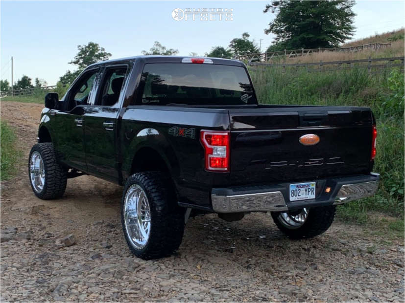 """2018 Ford F-150 Super Aggressive 3""""-5"""" on 24x12 -44 offset American Force Locus Ss and 35""""x12.5"""" Radar Renegade R/t on Suspension Lift 6"""" - Custom Offsets Gallery"""