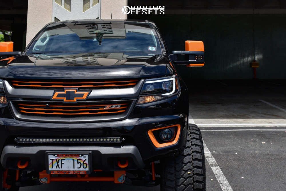 """2020 Chevrolet Colorado Super Aggressive 3""""-5"""" on 22x14 -76 offset Grid GF10 & 33""""x14.5"""" Fury Offroad Country Hunter Mt on Suspension Lift 8"""" - Custom Offsets Gallery"""