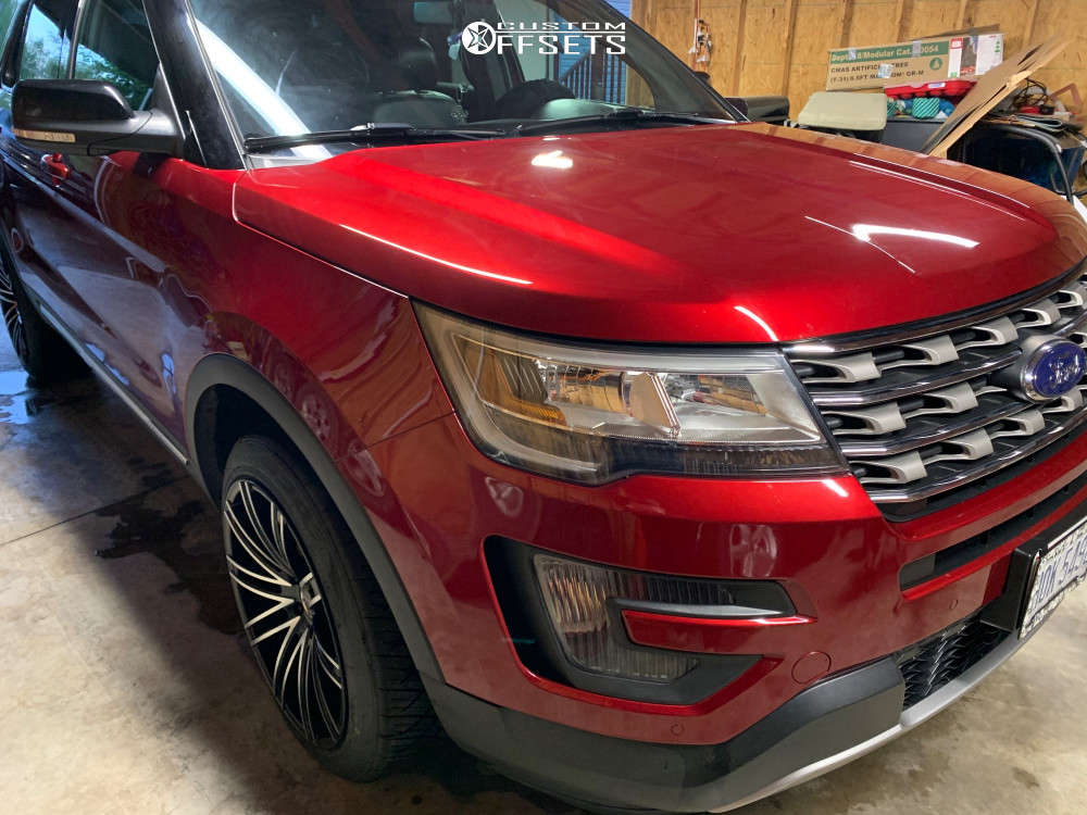 2016 Ford Explorer Flush on 20x10.5 30 offset Milanni Khan and 255/45 Nitto Nt420s on Stock Suspension - Custom Offsets Gallery