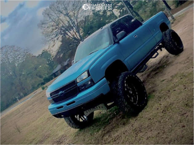 """2004 Chevrolet Silverado 1500 Super Aggressive 3""""-5"""" on 26x14 -73 offset Hardcore Offroad Hc15 and 37""""x15.5"""" Fuel Mud Gripper on Suspension Lift 8.5"""" - Custom Offsets Gallery"""