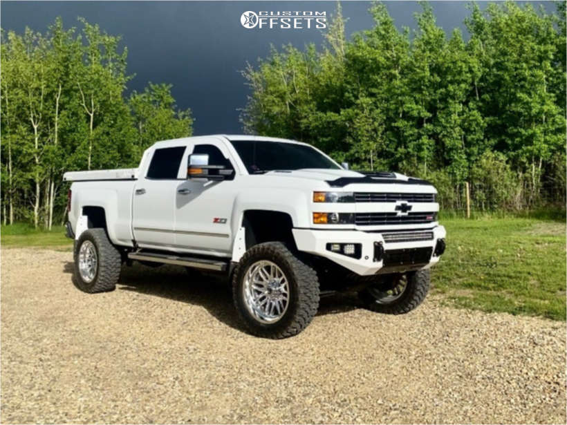 """2019 Chevrolet Silverado 3500 HD Super Aggressive 3""""-5"""" on 22x10 -18 offset Fuel Ignite and 37""""x13.5"""" Cf300 Comforser on Suspension Lift 5"""" - Custom Offsets Gallery"""