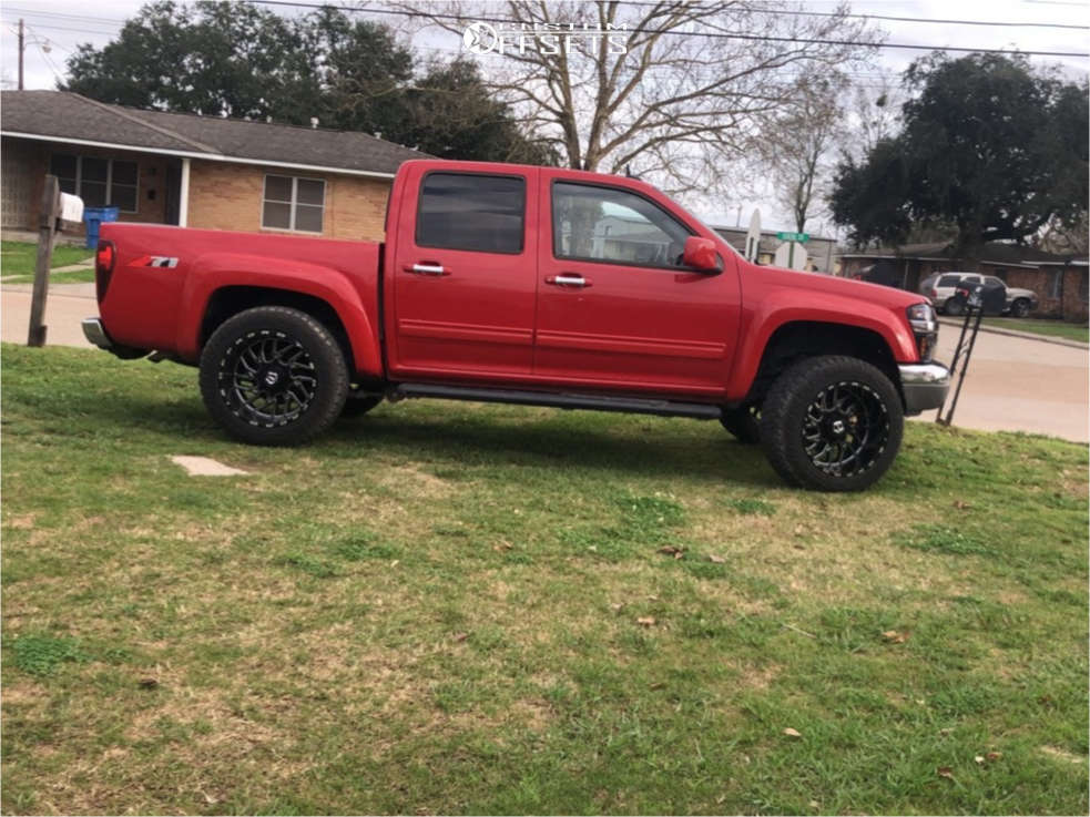 """2010 Chevrolet Colorado Super Aggressive 3""""-5"""" on 20x12 -44 offset TIS 544 & 33""""x12.5"""" Fury Offroad Country Hunter Rt on Leveling Kit - Custom Offsets Gallery"""