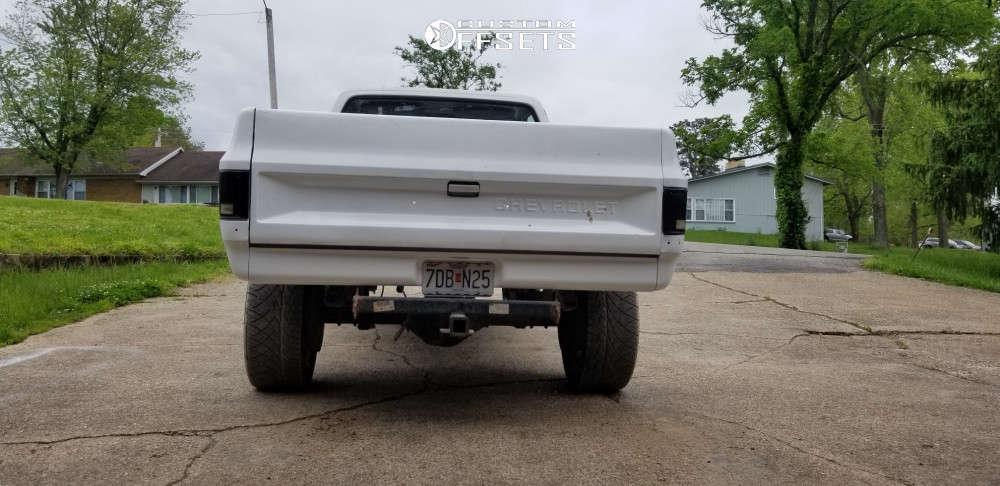 """1983 Chevrolet K20 Aggressive > 1"""" outside fender on 22x12 -44 offset Hostile H113 & 305/45 Nitto Nt420v on Stock Suspension - Custom Offsets Gallery"""