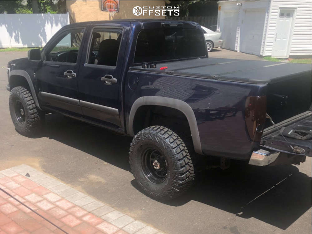 """2008 Chevrolet Colorado Aggressive > 1"""" outside fender on 15x8 -19 offset Vision D Window & 33""""x12.5"""" Goodyear Wrangler Mtr on Suspension Lift 3"""" - Custom Offsets Gallery"""