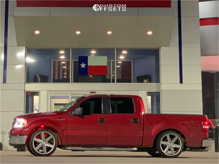 """2008 Ford F-150 Aggressive > 1"""" outside fender on 22x9 0 offset Strada Coda & 265/35 Nitto Nt420v on Lowered 3F / 5R - Custom Offsets Gallery"""