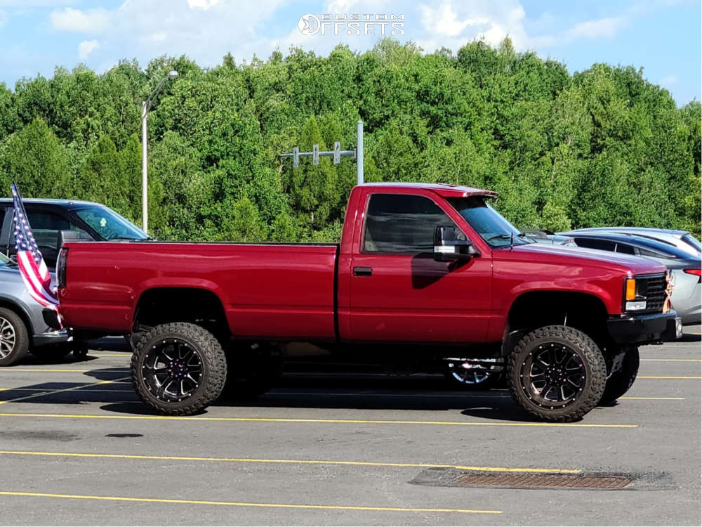 "1993 Chevrolet K2500 Super Aggressive 3""-5"" on 20x12 -44 offset Gear Off-Road Big Block & 33""x12.5"" Atturo Trail Blade Mt on Suspension Lift 6"" - Custom Offsets Gallery"