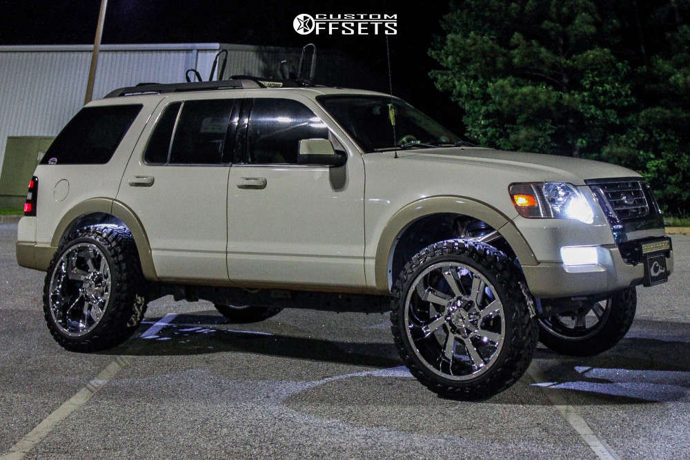 """2010 Ford Explorer Super Aggressive 3""""-5"""" on 22x12 -44 offset Karma Offroad K23 and 33""""x12.5"""" Atturo Trail Blade Mt on Suspension Lift 3"""" - Custom Offsets Gallery"""