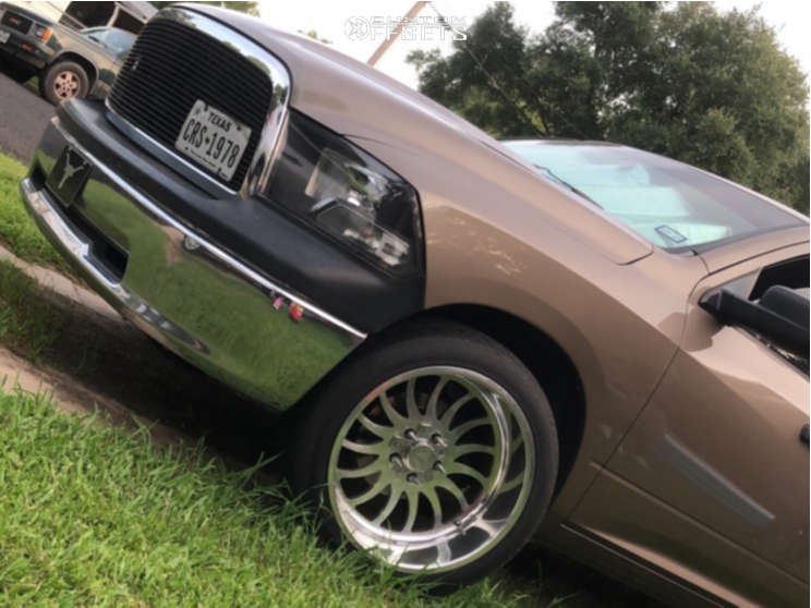 """2010 Dodge Ram 1500 Aggressive > 1"""" outside fender on 22x12 -44 offset Stealth Forged Creedmore & 305/40 Versatyre Trx6000 on Lowered on Springs - Custom Offsets Gallery"""