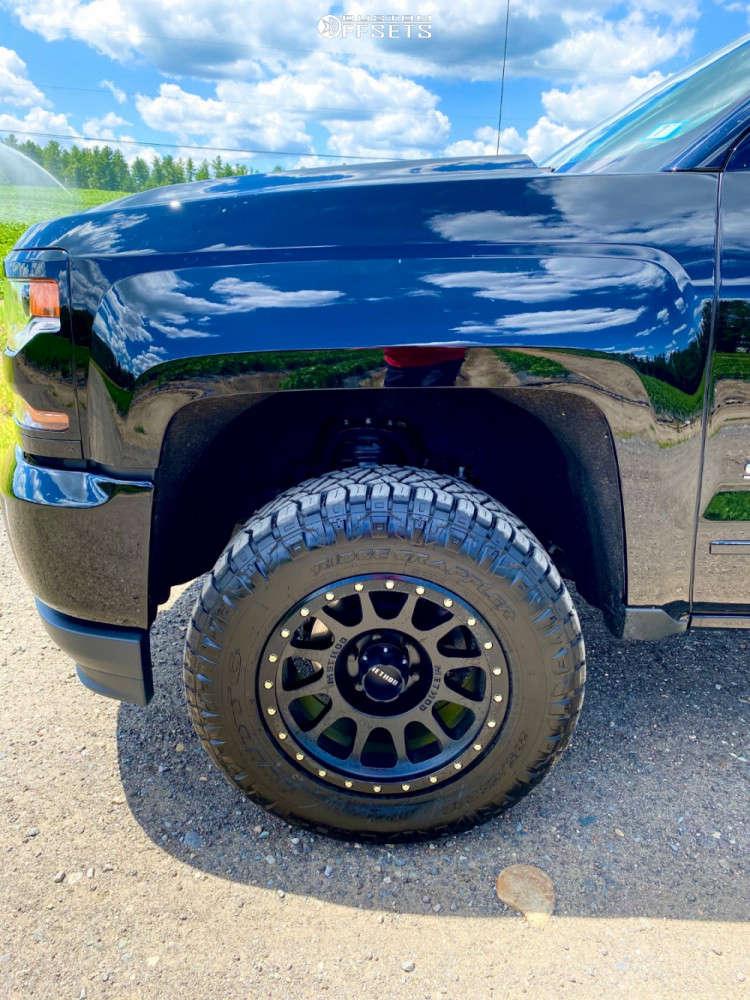 "2019 Chevrolet Silverado 1500 LD Slightly Aggressive on 18x9 -12 offset Method Nv & 32""x10.5"" Nitto Ridge Grappler on Leveling Kit - Custom Offsets Gallery"