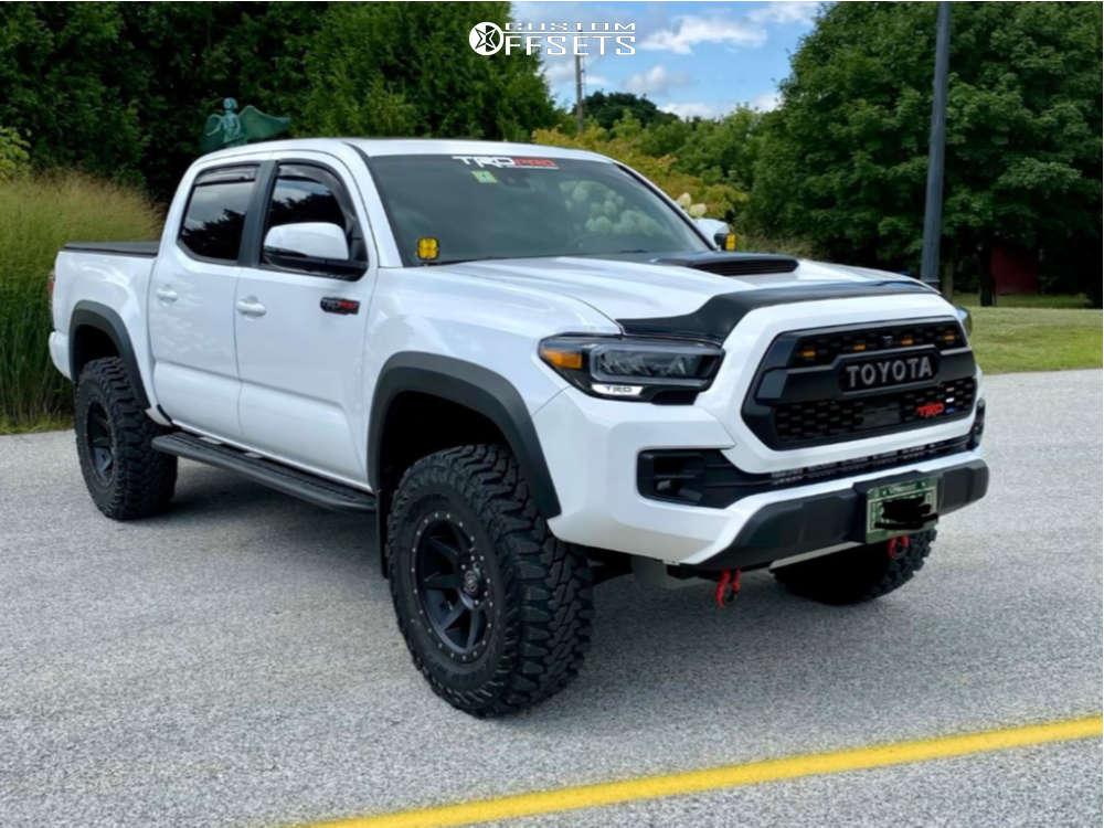 "2020 Toyota Tacoma Aggressive > 1"" outside fender on 17x8.5 0 offset Icon Alloys Rebound and 285/70 Yokohama Geolandar X-mt on Suspension Lift 2.5"" - Custom Offsets Gallery"