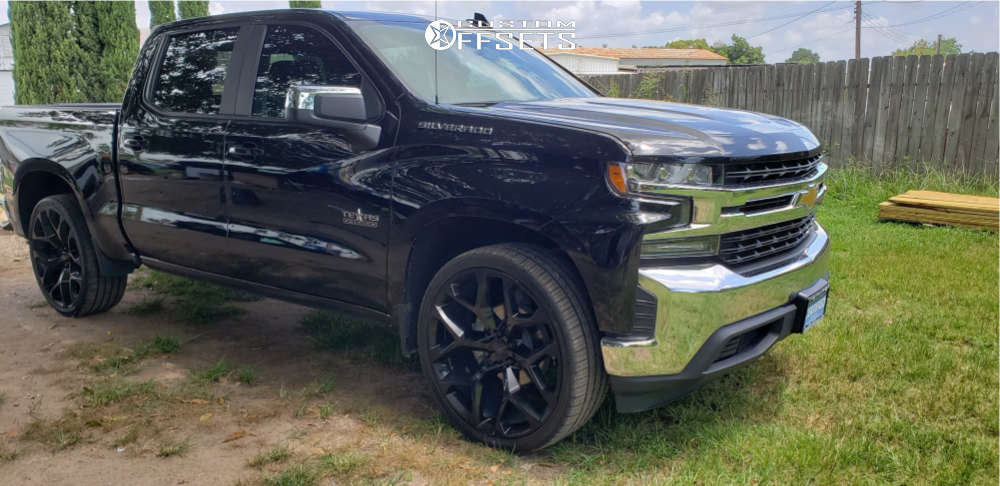 """2020 Chevrolet Silverado 1500 HellaFlush on 26x12 30 offset Factory Reproduction Fr59 & 30""""x12.5"""" Atlas Force Uhp on Stock Suspension - Custom Offsets Gallery"""