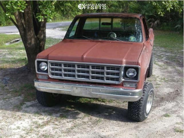 "1978 Chevrolet C10 Super Aggressive 3""-5"" on 15x12 -71.755 offset Mickey Thompson Classic and 33""x10.5"" BFGoodrich All Terrain Ta Ko2 on Suspension Lift 4.5"" - Custom Offsets Gallery"
