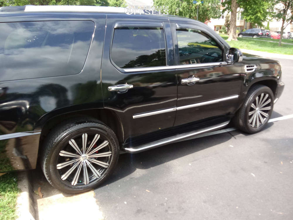 """2008 Cadillac Escalade Super Aggressive 3""""-5"""" on 22x12 18 offset 4Play OE Wheels Fr01 & 33""""x12.5"""" Pitbull Pbx A/t on Suspension Lift 4"""" - Custom Offsets Gallery"""