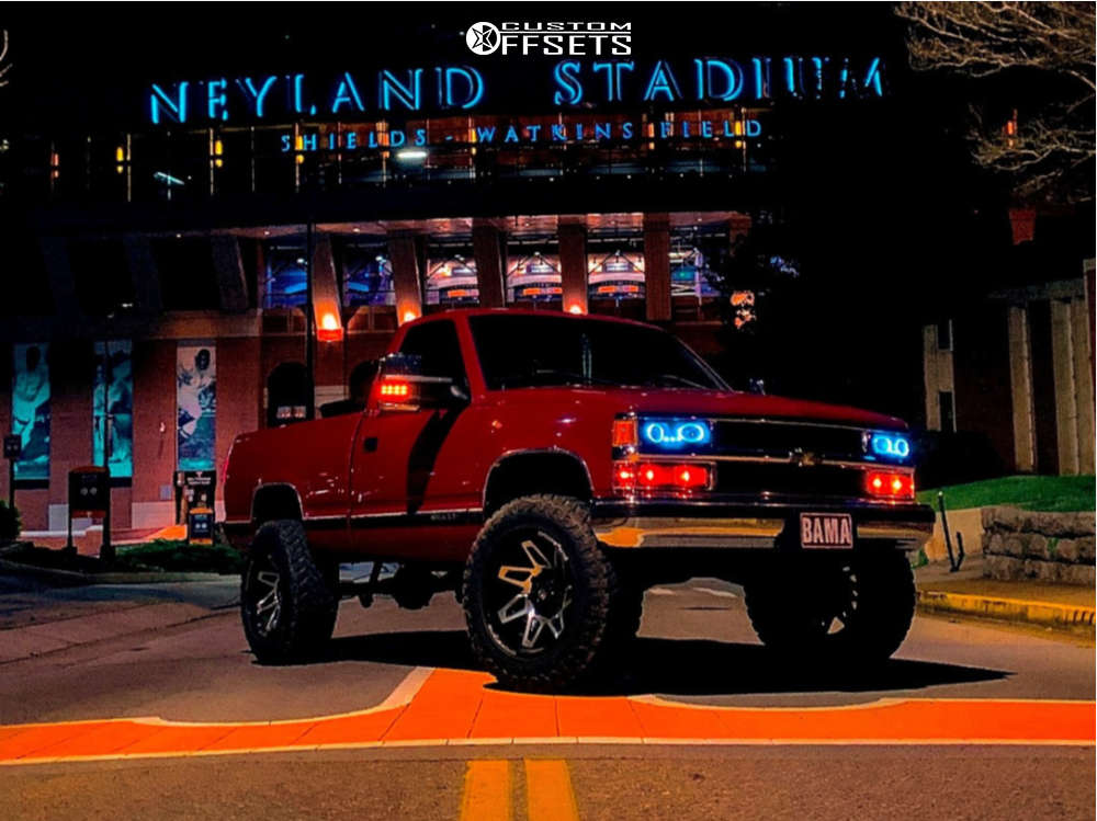 """1995 Chevrolet C1500 Aggressive > 1"""" outside fender on 20x12 -43.942 offset Dropstar 654mb & 35""""x12.5"""" Atturo Trail Blade MT on Suspension Lift 6"""" - Custom Offsets Gallery"""