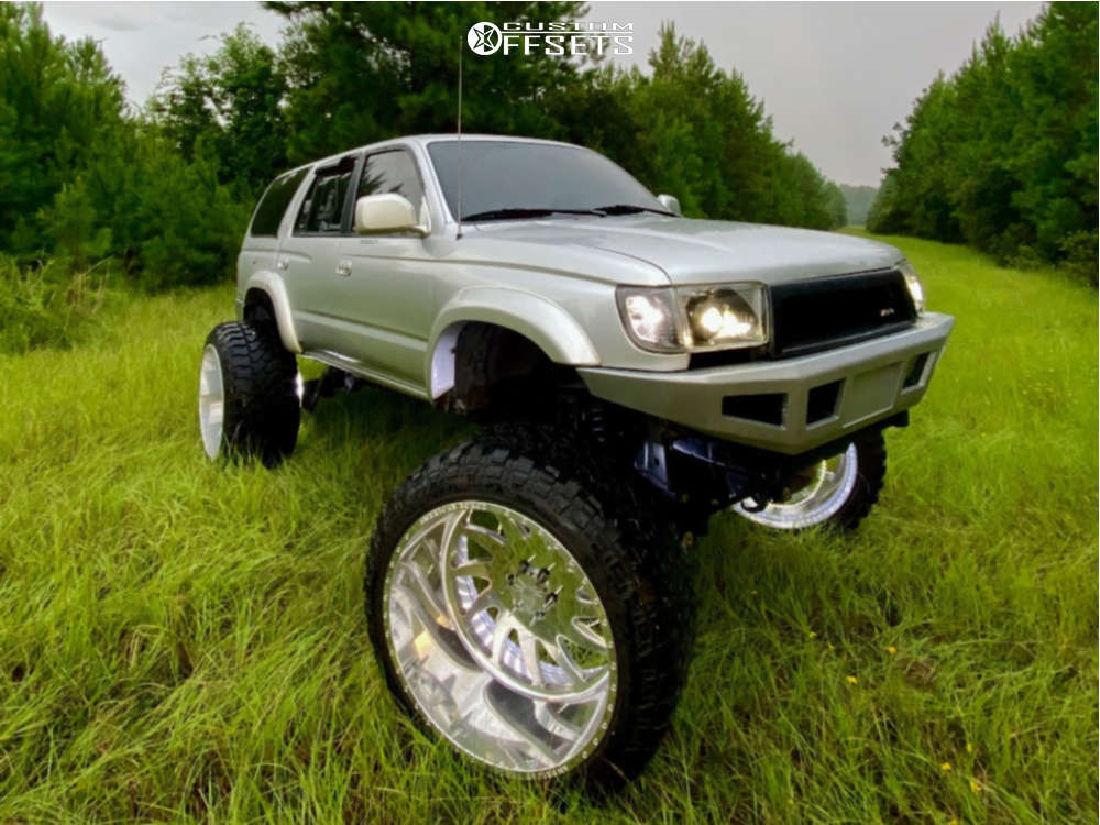 """2002 Toyota 4Runner Hella Stance >5"""" on 26x16 -101 offset American Force Spirit Ss and 38""""x15.5"""" Fury Offroad Country Hunter Mt on Lifted >12"""" - Custom Offsets Gallery"""