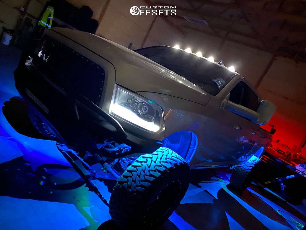 """2014 Ram 2500 Super Aggressive 3""""-5"""" on 20x12 -44 offset Fuel Maverick D610 & 38""""x13.5"""" Toyo Tires Open Country M/t on Suspension Lift 6.5"""" - Custom Offsets Gallery"""