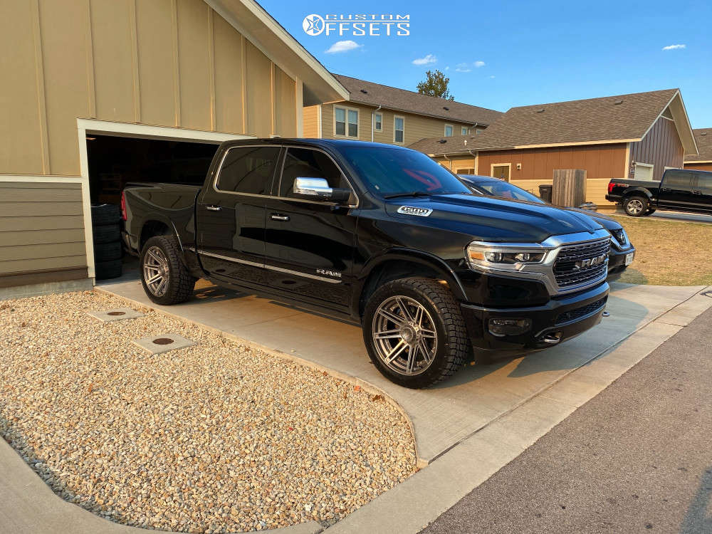 """2019 Ram 1500 Slightly Aggressive on 22x10 -18 offset 4Play 4p08 & 33""""x12.5"""" Nitto Terra Grappler G2 on Air Suspension - Custom Offsets Gallery"""