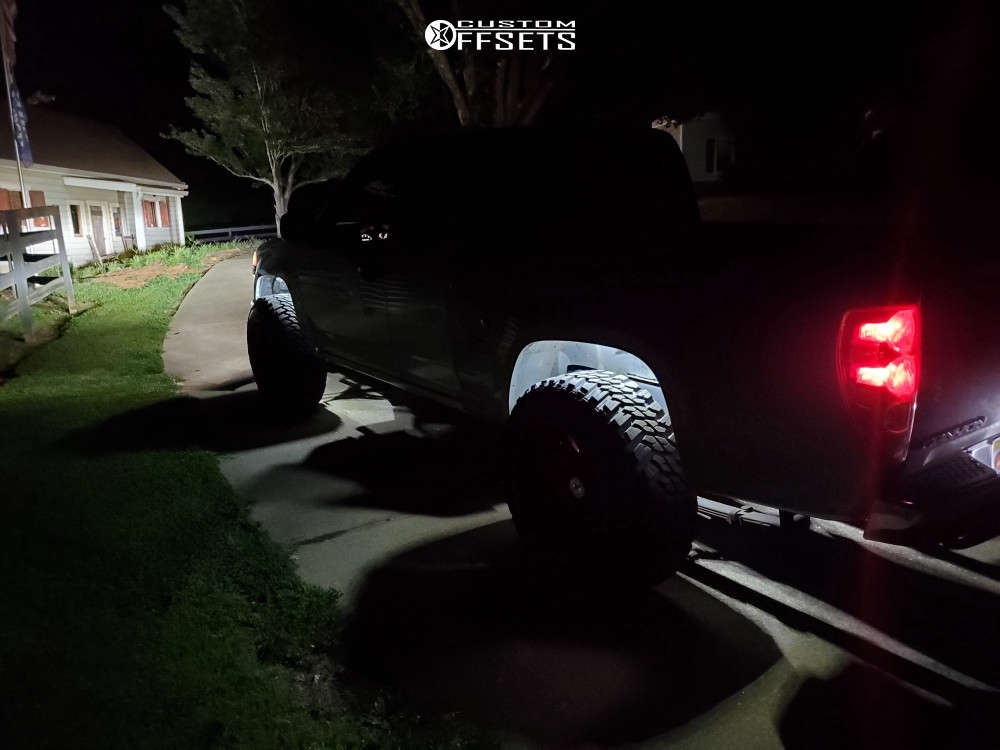 """2006 Chevrolet Colorado Aggressive > 1"""" outside fender on 20x12 -44 offset XF Forged Xfx-301 & 33""""x11.5"""" Kanati Mud Hog on Suspension Lift 2.5"""" - Custom Offsets Gallery"""