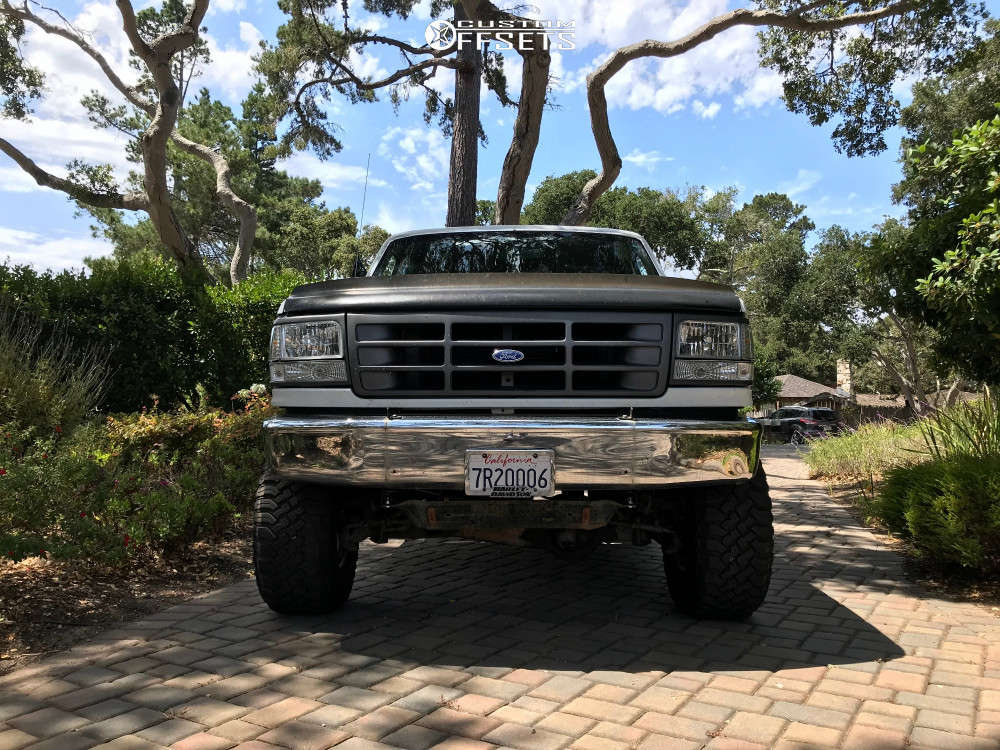 """1994 Ford F-150 Aggressive > 1"""" outside fender on 15x10 -47.625 offset Pro Comp Series 69 and 33""""x12.5"""" Falken Wildpeak Mt on Suspension Lift 6"""" - Custom Offsets Gallery"""