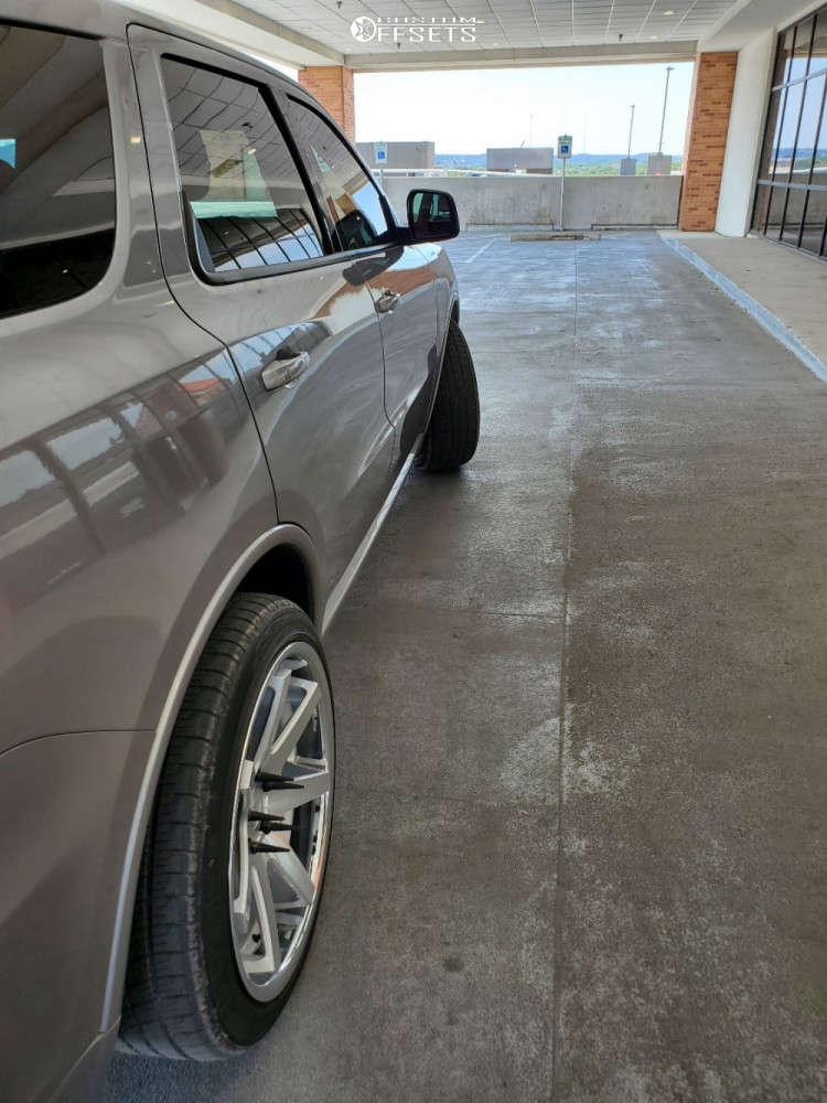 2019 Dodge Durango Poke on 22x10.5 28 offset Ferrada Fr1 and 265/45 Radar Dimax 4 Season on Stock Suspension - Custom Offsets Gallery