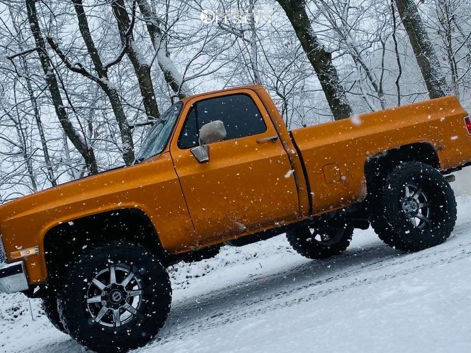 """1984 Chevrolet K10 Super Aggressive 3""""-5"""" on 20x14 -44 offset Fuel Maverick & 35""""x12.5"""" Federal Couragia Mt on Suspension Lift 4"""" - Custom Offsets Gallery"""