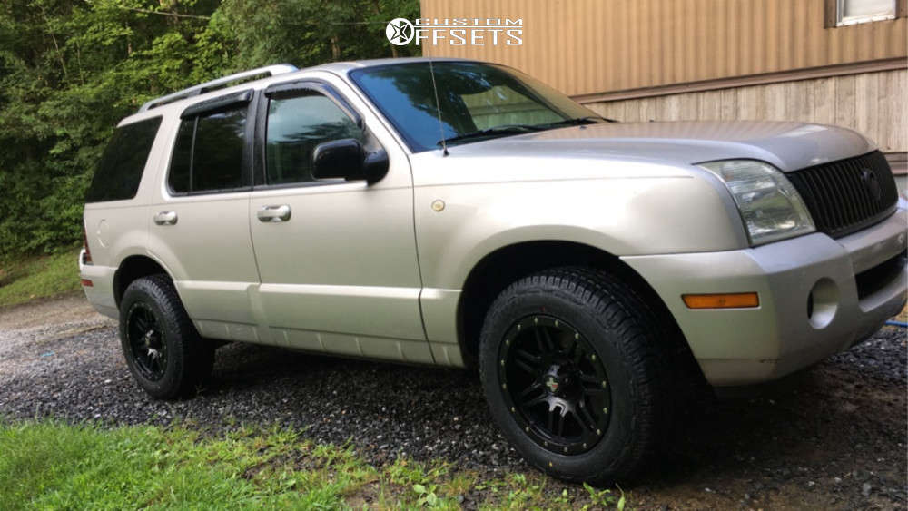 """2003 Mercury Mountaineer Aggressive > 1"""" outside fender on 17x8.5 -6 offset DX4 7s and 245/65 Westlake Sl369 on Stock Suspension - Custom Offsets Gallery"""
